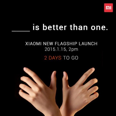 Xiaomi Hints Two Flagship Devices at 15 January Launch Event; Will Mi5, Redmi Note 2 Make Debut This Week?