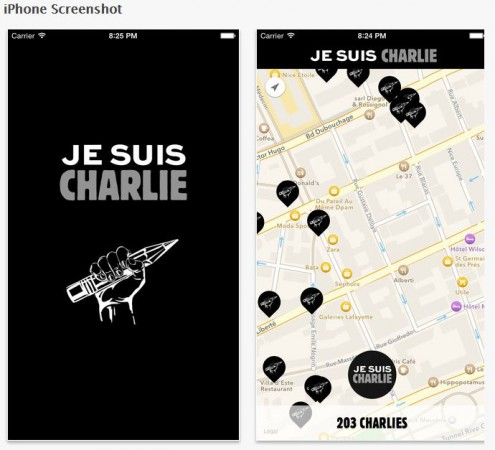 'Je suis CHARLIE' iPhone App Gets Approval in 1 Hour; Hits Apple iTunes Store in Record Time