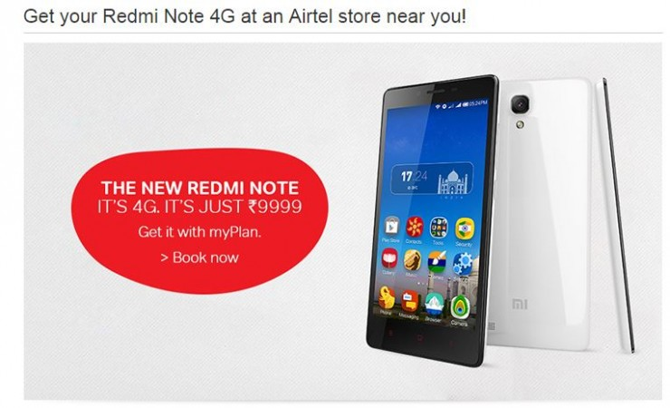 Airtel to Sell Xiaomi Redmi Note 4G at Physical Stores in Select Indian Cities This Weekend
