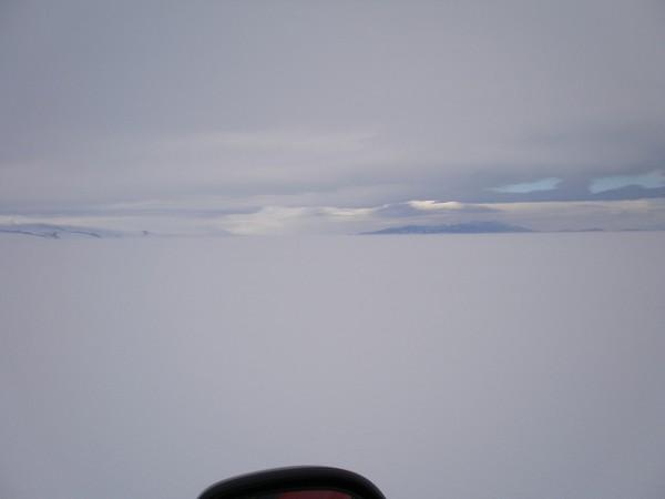 Ross ice shelf in Antarctica