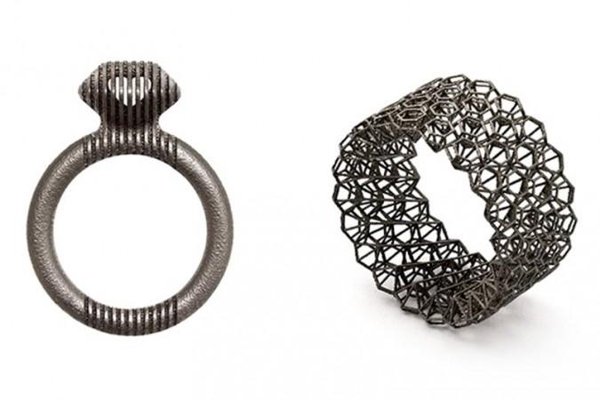 Cinnamon Lee's 3D printed titanium rings