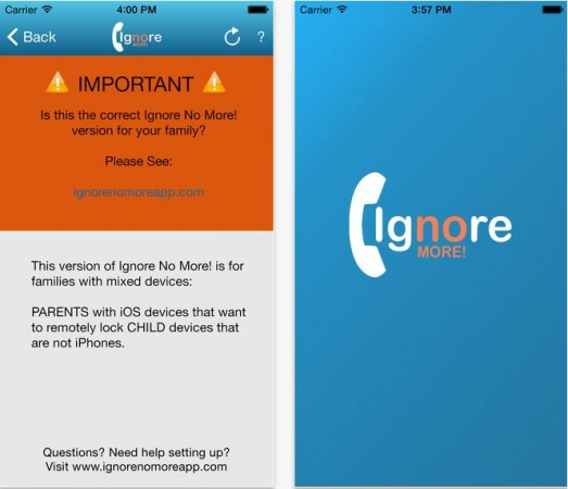 Ignore No More: An App That Gives Parents Power to Control Children's Smartphone