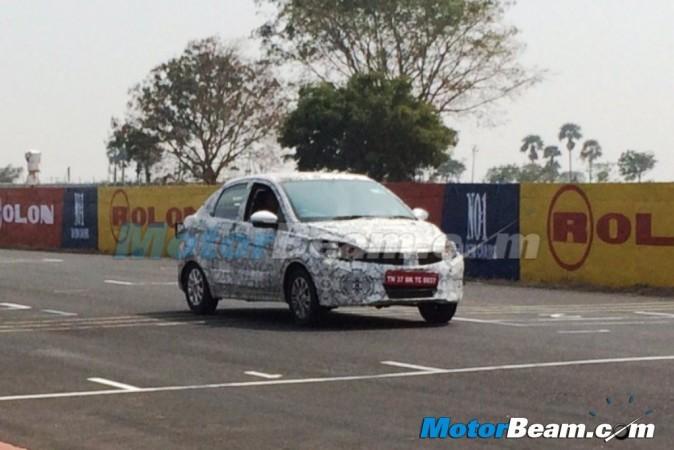 Tata Kite Sedan Spied Testing