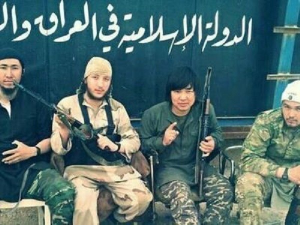 ISIS has recruits from all over the world. This image shows ISIS militants from China.
