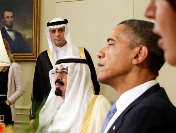 Abdullah bin Abdulaziz with Barack Obama