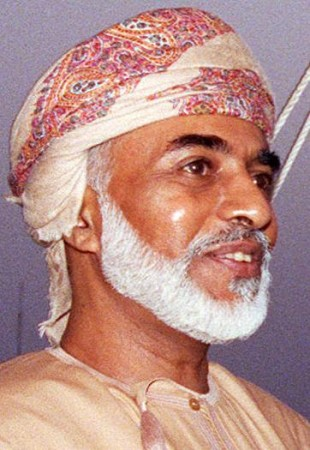 The Sultan of Oman, Qaboos bin Said al Said,