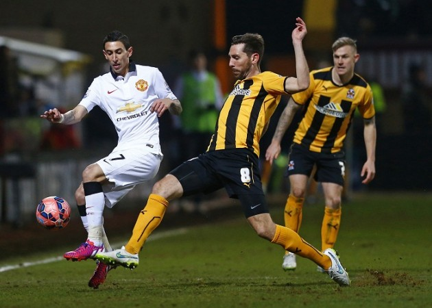 Angel Di Maria Manchester United Tom Champion Cambridge United