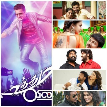 'Komban', 'Uttama Villain', 'Muni 3', 'Romeo Juliet', 'Nannbenda', 'Purampokku' in April