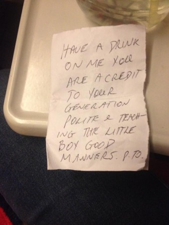 note on train