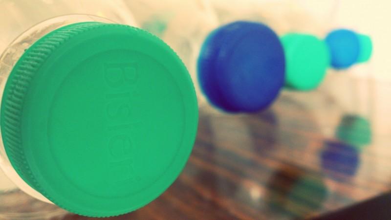 Bisleri water bottles