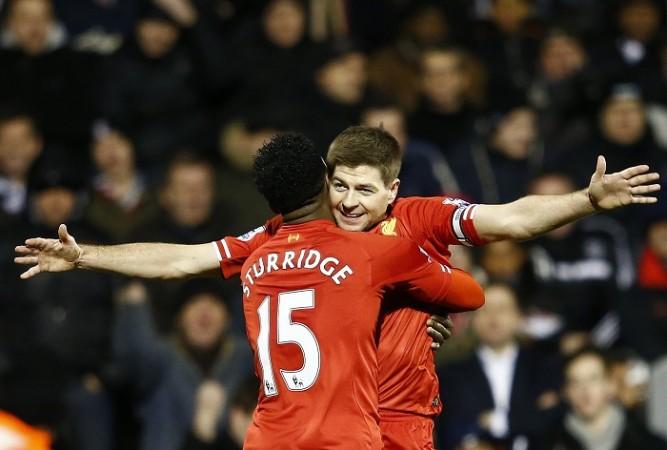 Steven Gerrard and Daniel Sturridge