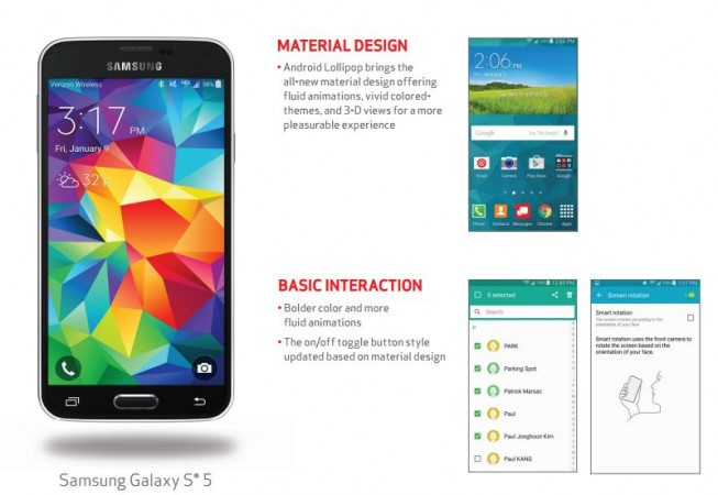 Samsung Galaxy S5 Android 5.0 Lollipop Update Alert: New Google Mobile OS Released to Verizon Model
