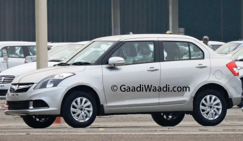 Maruti Suzuki Swift Dzire Facelift Spied Up Close
