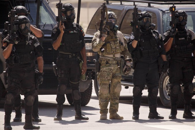 Jordanian Special Forces unit during a training exercise.