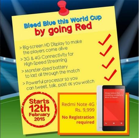 Xiaomi Redmi Note 4G Open Sale Goes Live on Flipkart; No Registration Needed