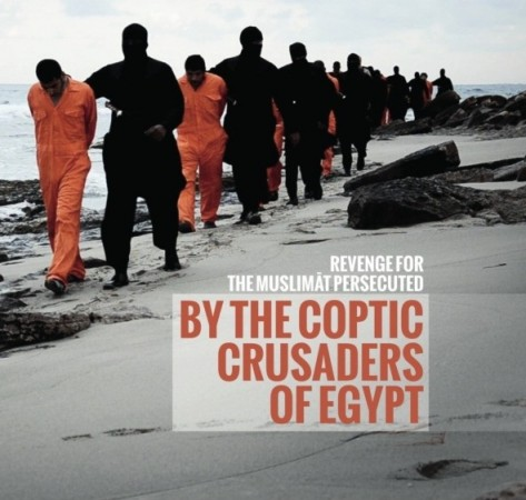 The issue 7 of ISIS' English propaganda magazine carries a report on the 21 Egyptian Coptic Christians kidnapped in Libya.
