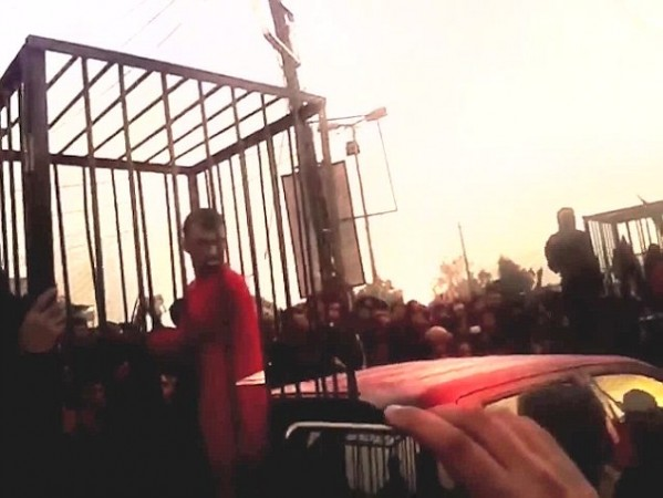 An ISIS video showed 17 Peshmerga soldiers being paraded in cages.