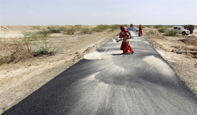 Road construction in India
