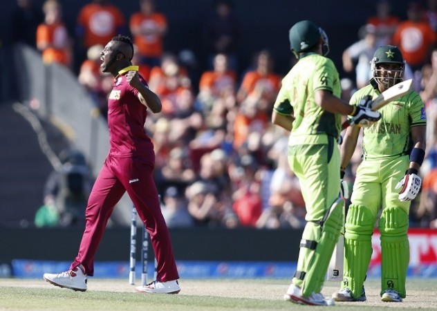Andre Russell West Indies Pakistan Umar Akmal