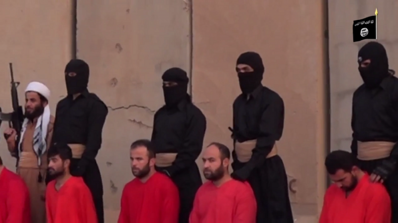Isis video claims 21 Peshmerga soldiers have been beheaded.