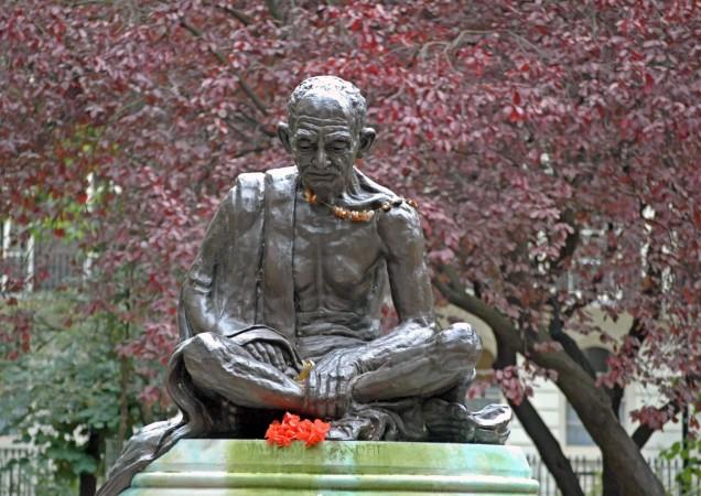 Mahatma Gandhi statue at Tavistock Square