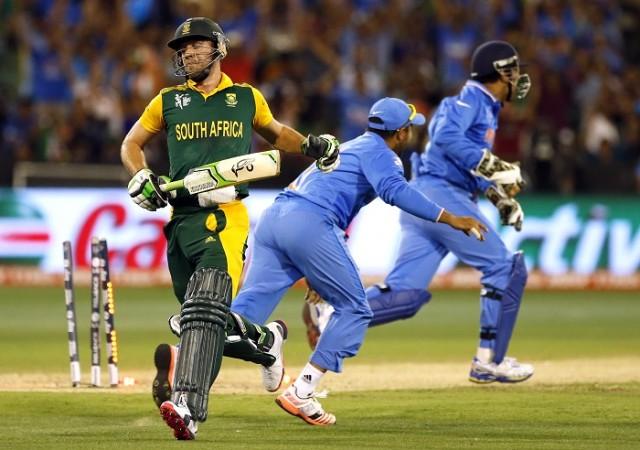 AB De Villiers South Africa Suresh Raina MS Dhoni India