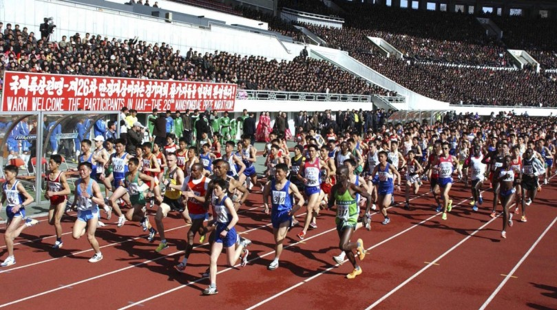 International marathon in North Korea not open to foreigners this due to fear of Ebola.