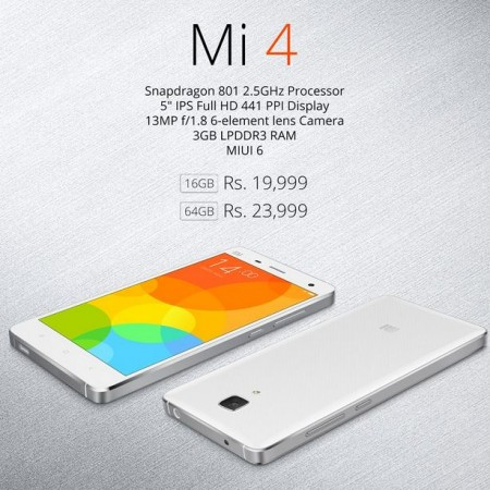 Xiaomi Mi4 Flipkart Flash Sale to Go Live on 03 March