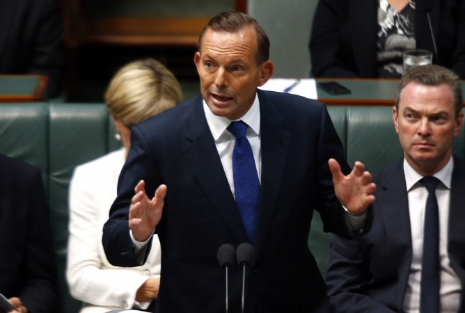 Australia's Prime Minister Tony Abbott speaks in the Australian Parliament located in the Australian capital city of Canberra February 23, 2015.