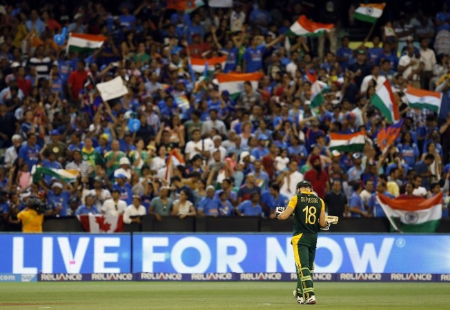 Faf Du Plessis South Africa India MCG Crowd World Cup 2015