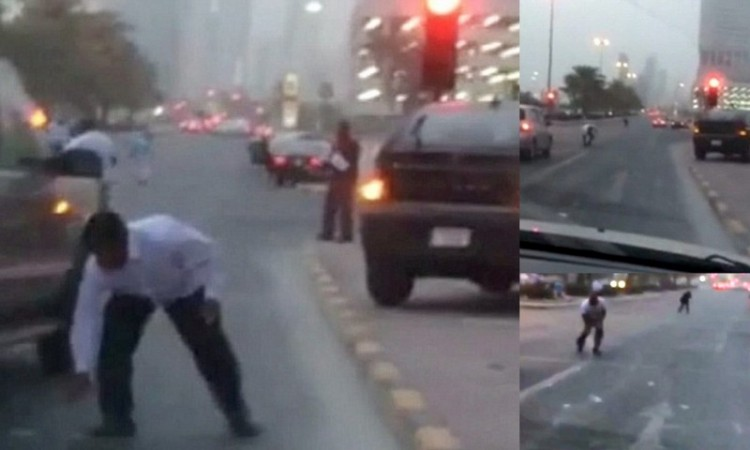 When it rained money on Dubai roads