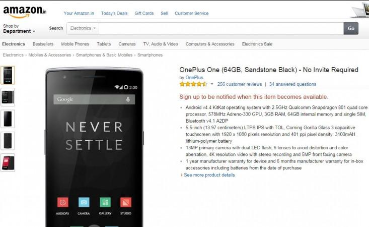 OnePlus One Open Sale Goes Live on Amazon India; No Invites Needed