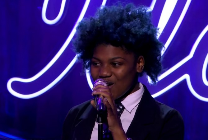 Tyanna Jones performs on American Idol XIV 2015