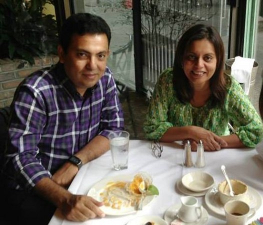 Avijit Roy with his wife Rafida