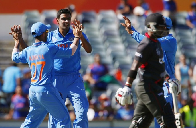 R Ashwin India UAE World Cup 2015