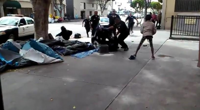 Police in Los Angeles have shot dead a man described as