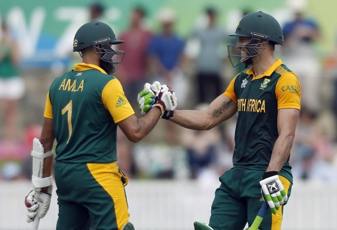Hashim Amla Faf Du Plessis South Africa World Cup 2015