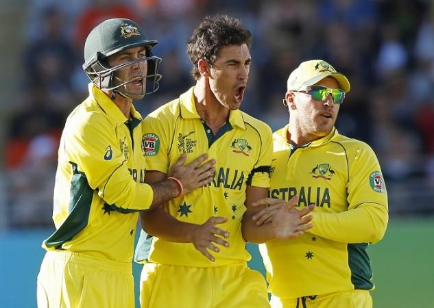 Mitchell Starc Glenn Maxwell Aaron Finch Australia World Cup