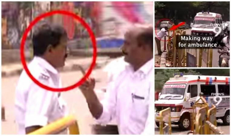 Bangalore Cop Attacking Ex-Army Man