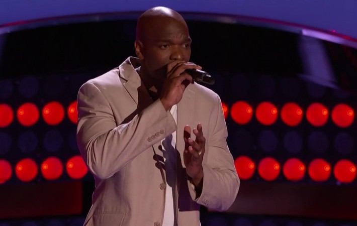"""Jeremy Gaynor performing """"Superstar"""" on The Voice 2015 Blind Audition"""