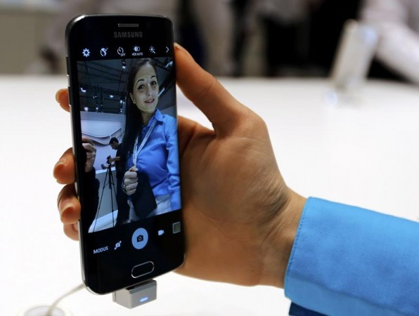 [Representational image] User checking out Samsung Galaxy device on display