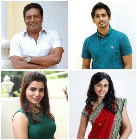 Siddhartha, Samantha, Rakul Preet and Prakash Raj