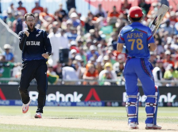 Daniel Vettori New Zealand Afsar Zazai Afghanistan ICC Cricket World Cup 2015