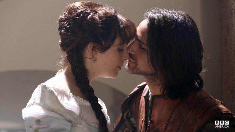 D'Artagnan and Tamla Kari in 'The Musketeers'.