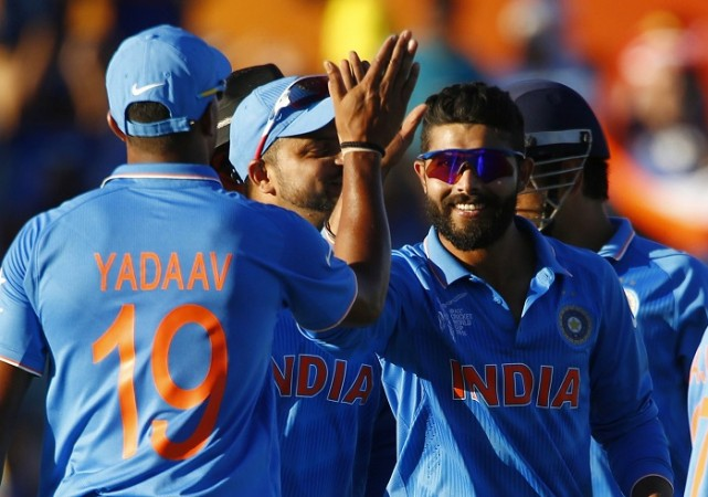 Ravindra Jadeja India Umesh Yadav ICC Cricket World Cup 2015