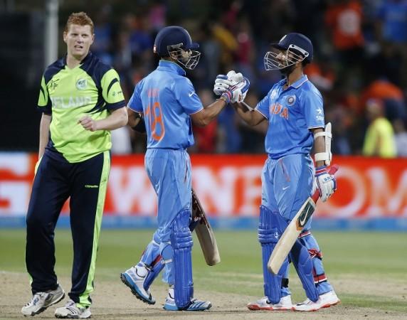 Kevin O'Brien Ireland Virat Kohli Ajinkya Rahane India ICC Cricket World Cup 2015