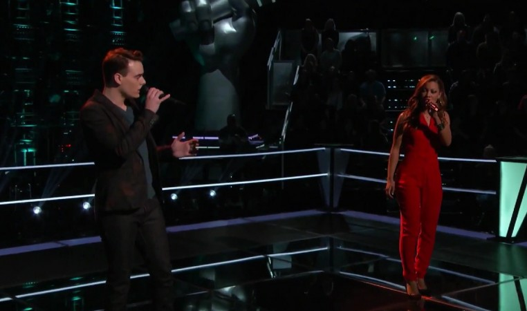 "India Carney and Clinton Washington perform Rihanna's ""Stay"" on The Voice US Season 8"