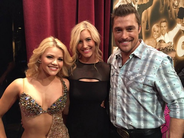 Chris Soules with Whitney Bischoff and Witney Carson