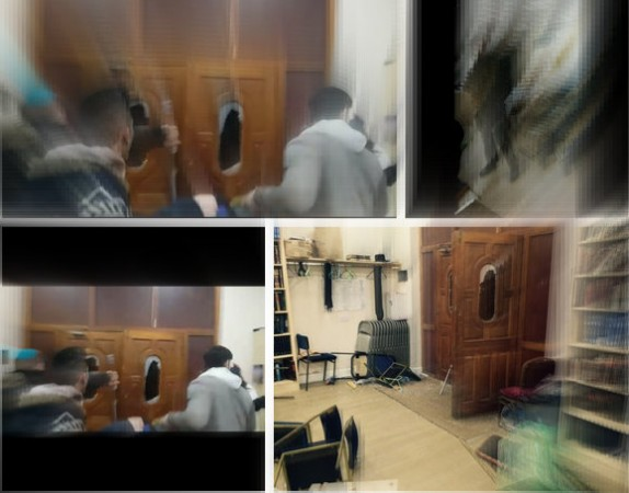 Mob attacks Jewish prayer house in London.