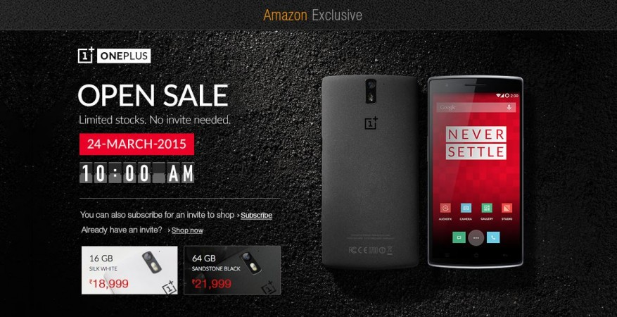 Amazon India to Host OnePlus One Open Sale on 24 March; Both 16GB and 64GB Models Can be Grabbed Without Invites
